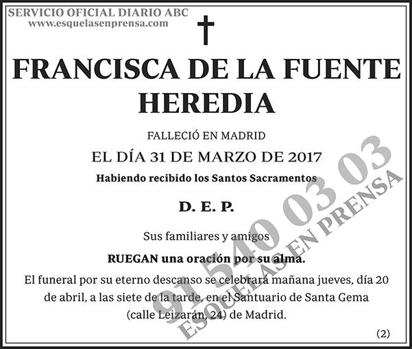 Francisca de la Fuente Heredia